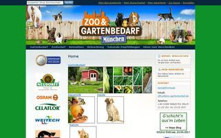 Zoo & Gartenbedarf Webseiten Screenshot