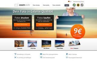 Zoomwork Webseiten Screenshot