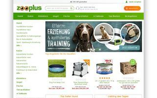 Zooplus CH Webseiten Screenshot