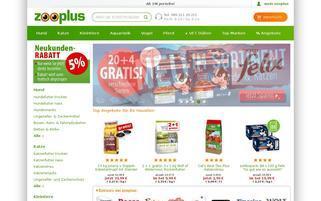 zooplus.de Webseiten Screenshot