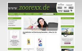 zoorexx.de Webseiten Screenshot
