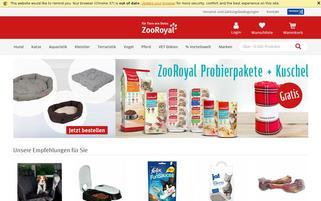 zooroyal.de Webseiten Screenshot