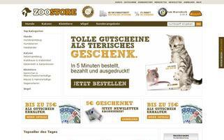 zoostore.de Webseiten Screenshot