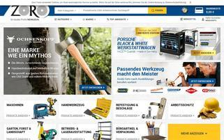 Zoro Webseiten Screenshot