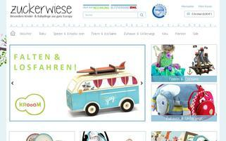 Zuckerwiese Webseiten Screenshot