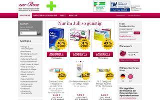 Zur Rose Österreich Webseiten Screenshot