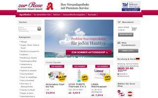 zurrose.de Webseiten Screenshot