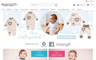 Baby Sweets Webseiten Screenshot