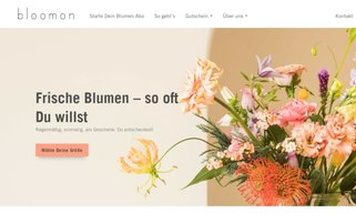 Bloomon Webseiten Screenshot