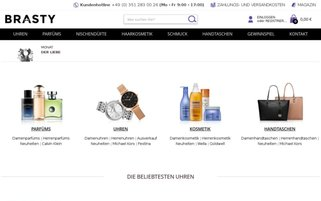 BRASTY Webseiten Screenshot