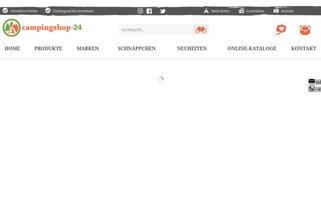 Campingshop-24 Webseiten Screenshot