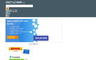 Cect Shop Webseiten Screenshot
