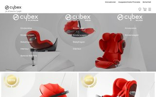 Cybex Webseiten Screenshot
