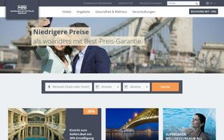 Danubius Hotels Webseiten Screenshot