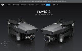 DJI Webseiten Screenshot