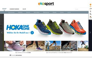 Ekosport Webseiten Screenshot