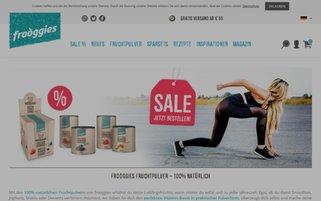 Frooggies Webseiten Screenshot