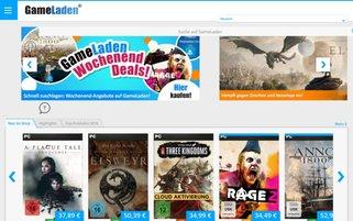 GameLaden Webseiten Screenshot