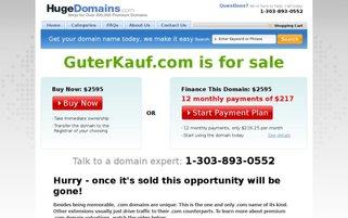 Guter Kauf Webseiten Screenshot