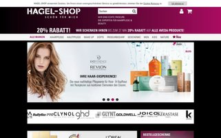 Hagel Shop Webseiten Screenshot