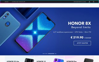 Honor Webseiten Screenshot