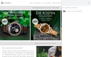 HOLZKERN Webseiten Screenshot