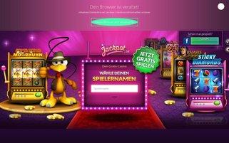 Jackpot Webseiten Screenshot
