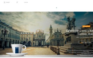 Lavazza Webseiten Screenshot