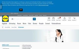 Lidl Kochzauber Webseiten Screenshot