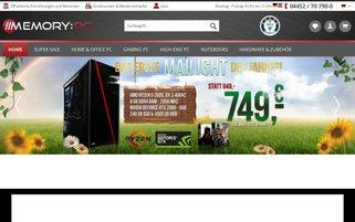 Memory PC Webseiten Screenshot