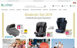 myPram Webseiten Screenshot