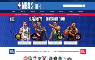 NBA Store Webseiten Screenshot