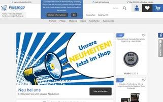 Pillashop Webseiten Screenshot
