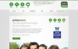 Primastrom Webseiten Screenshot
