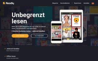 Readly Webseiten Screenshot