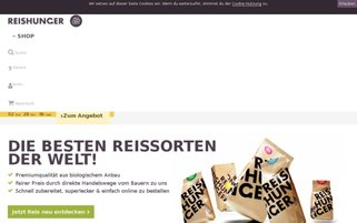 Reishunger Webseiten Screenshot