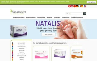 SanaExpert Webseiten Screenshot