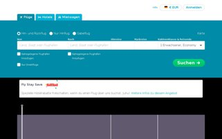 Skyscanner Webseiten Screenshot