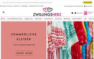 Zwillingsherz Webseiten Screenshot