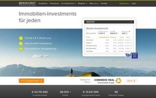 Bergfürst Webseiten Screenshot