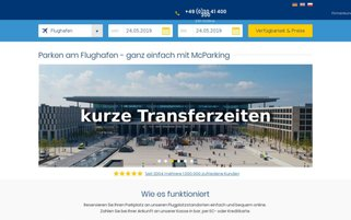 McParking Webseiten Screenshot