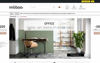 Miliboo Webseiten Screenshot