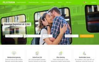 FlixTrain Webseiten Screenshot