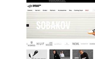 Sneakerstudio Webseiten Screenshot