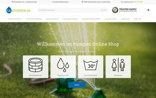1a-Pumpen Webseiten Screenshot