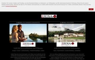 A-ROSA Webseiten Screenshot