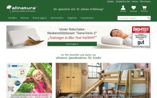 allnatura Webseiten Screenshot