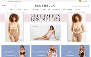 Bluebella Webseiten Screenshot