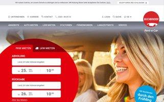 Buchbinder Webseiten Screenshot