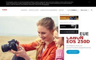 Canon Webseiten Screenshot